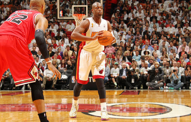 Dwyane Wade scored 13 in the Heat's season-opening win over the Bulls but will rest vs. the Sixers.