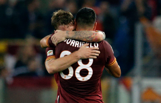Marco Borriello's 67th minute goal gave Roma a 1-0 victory over last-place Chievo Verona.