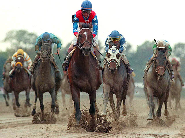 He's best known for winning 18 straight races, but arguably the greatest of them was his victory in the 1995 Classic at Belmont Park. Cigar (foreground, blue cap) came into the race having won 11 races in a row, including all nine of his starts in '95. After rating off the lead in the early stages of the race, Cigar swept to the lead around the far turn and never looked back.