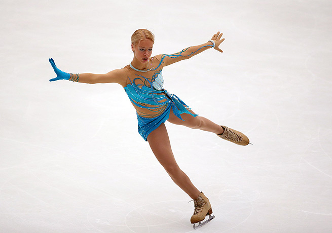 Anna Pogorilaya's third-place finish in the short program was enough to secure her first senior Grand Prix.
