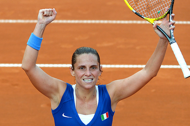 Italy needs one more victory on Sunday to add to its Fed Cup titles in 2006, 2009 and 2010.