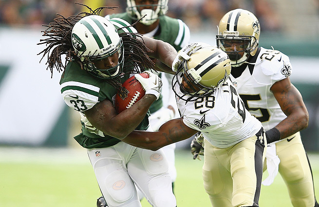 Facing his former team, Chris Ivory ran for 139 revenge-minded yards in the Jets' upset win over the Saints.