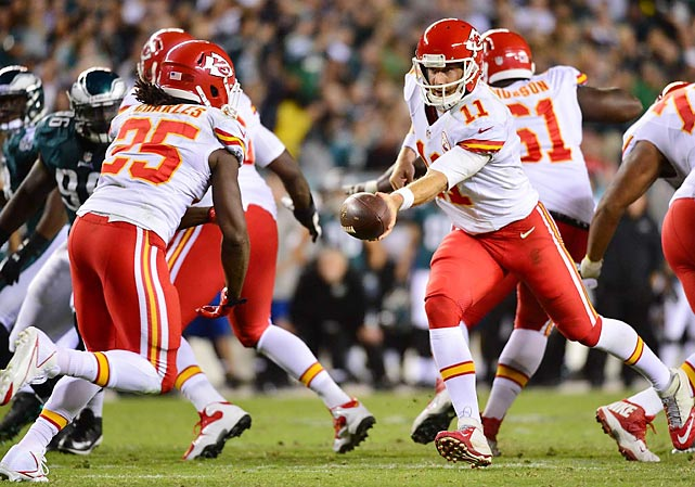 While the Chiefs feature the league's best defense by pretty much every statistic out there, that won't be enough to reign supreme in February. At some point, Alex Smith is going to have to do more than hand off to Jamaal Charles and admire the running back's handiwork. <italics>All stats through Nov. 5</italics>