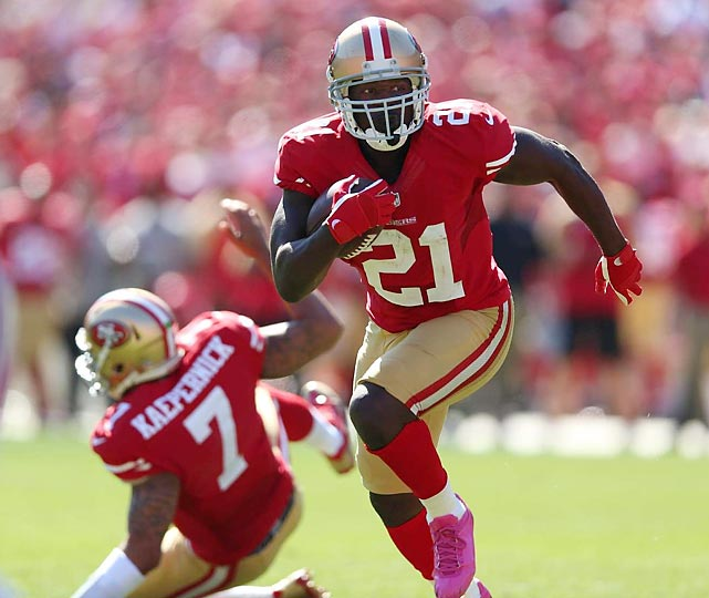 The 49ers are on an impressive streak, winning five straight after getting back to their power run game dominated by Frank Gore and, to a lesser extent, Colin Kaepernick. If they can't overtake the Seahawks in the NFC West, though, they'll likely have to win three road games in January just to get to the Super Bowl. All stats through Nov. 5