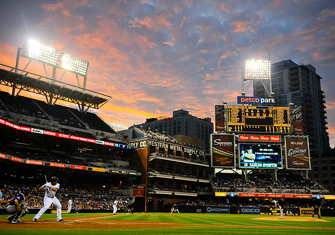 Mostly used to baseball games, Petco Park will now be the site of a Davis Cup tennis match.