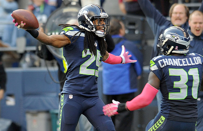 Richard Sherman (left) has been the definition of a game-changing force with the Seahawks this season.