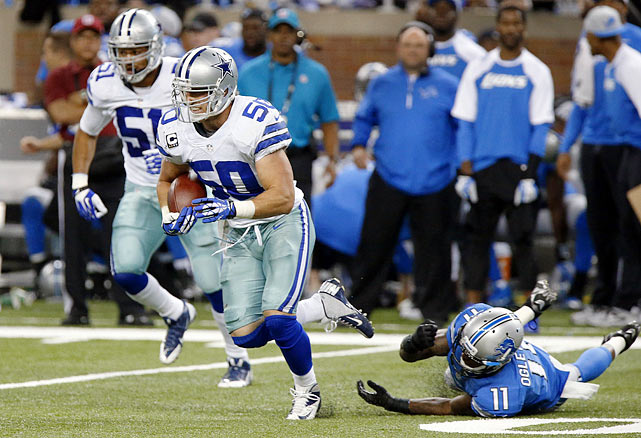 A pick machine [relatively speaking, for a Mike LB], this playmaker keeps Dallas's defense ticking.