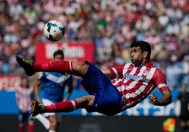 An injury has prevented Atletico Madrid forward Diego Costa, a Brazil-born naturalized citizen, from making his international debut for Spain.