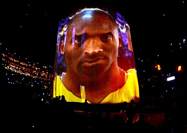 The Laker icon's scowling presence looms large over his team, as it tends to do.