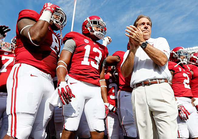 After leading Alabama to three BCS titles in four seasons, Nick Saban has the Crimson Tide 8-0 in 2013.