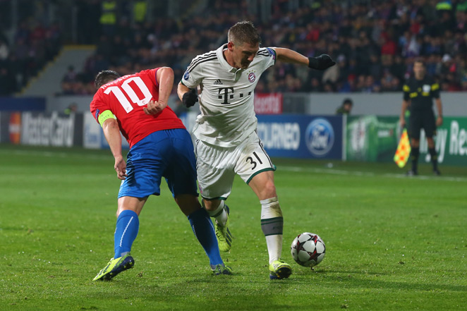 Bayern Munich midfielder Bastian Schweinsteiger (right) is set to be out indefinitely, as he needs another surgery on his troubled right ankle.