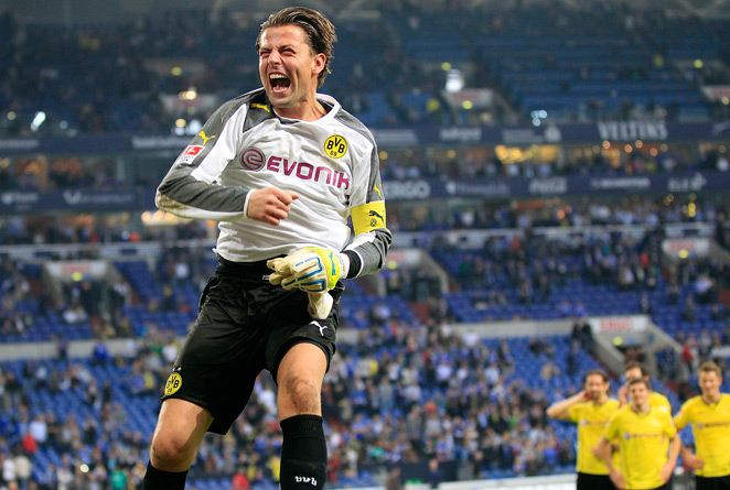 Borussia Dortmund goalkeeper Roman Weidenfeller, 33, earned his first call to the Germany national team.