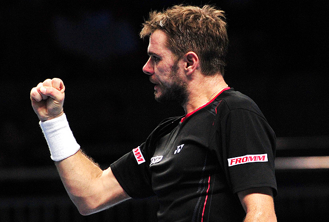 Stanislas Wawrinka is still in the running to make the semifinals for the first time at the ATP Finals.