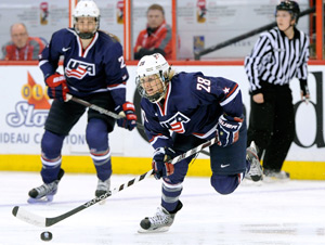 U.S. forward Amanda Kessel (28) is the little sister of Maple Leafs sniper Phil Kessel.