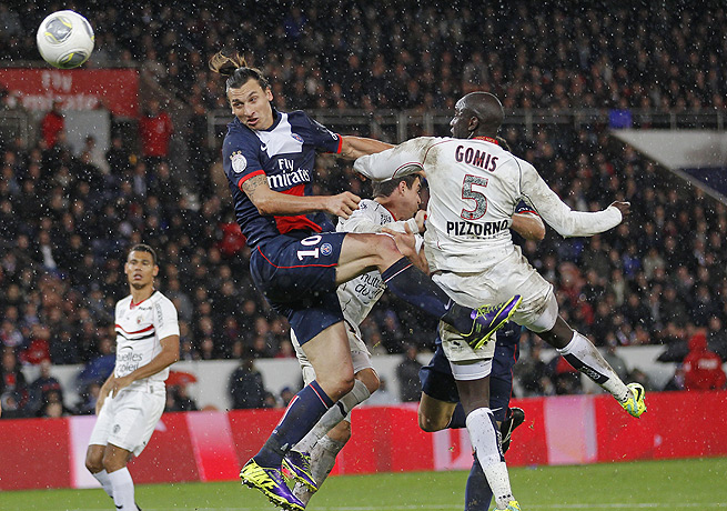 Zlatan Ibrahimovic (10) accounted for all of Paris Saint-Germain's offense against Nice.
