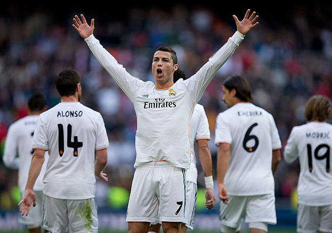 Cristiano Ronaldo's hat trick against Sociedad put the prolific striker at 16 goals this season in La Liga.