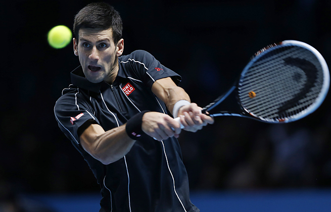 With a win in the ATP semifinals, Novak Djokovic took his 21st straight match since the U.S. Open.