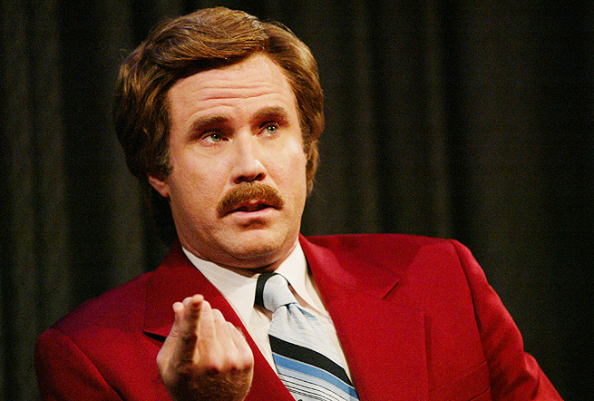 I'm Ron Burgundy? Will Ferrell would be an intuitive choice to be a future SportsCenter celebrity host.