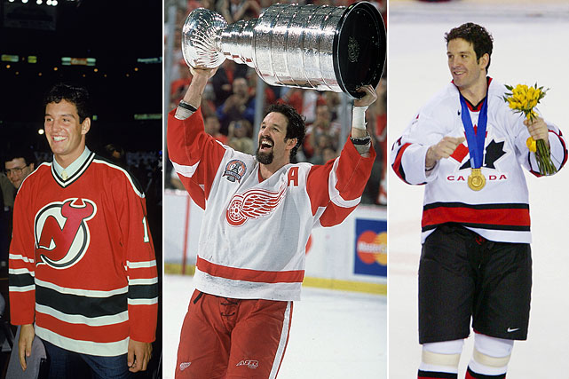 """A three-time Stanley Cup winner with Detroit (1997, 1998, 2002), he appeared in the playoffs in 19 of his 21 seasons and participant in eight NHL All-Star Games. Shanahan was also a key member of Team Canada, joining """"triple gold"""" club by winning gold medals at the Olympics and World Championships to go along with his Cups. He retired from the NHL with 656 goals and 1,354 points in 1,524 games."""