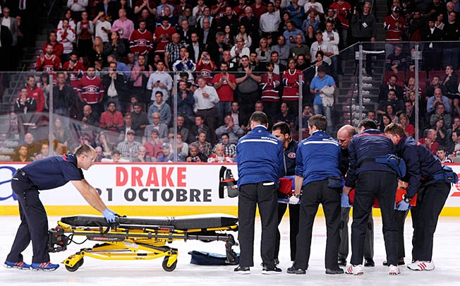 The sight of George Parros leaving on a stretcher after a fight stirred dark memories and forebodings.