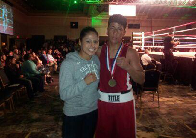 Alexis Urbina (right) had recently won USA Boxing's 141-pound Youth Men's Division in April.