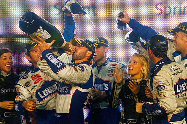 Jimmie Johnson is almost a lock to take his sixth championship swig of bubbly at Homestead.