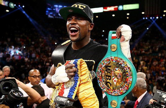 Floyd Mayweather Jr.'s announced the location of his upcoming bout on Twitter.