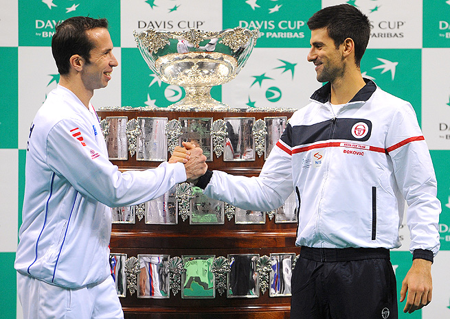 Radek Stepanek and Novak Djokovic last played at the Australian Open this year, and Djokovic won in straight sets.