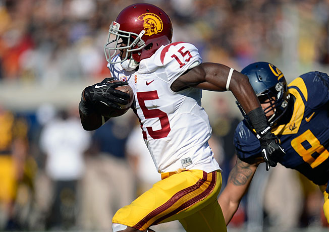Nelson Agholor (15) and USC have won three games in a row entering this week's clash with Stanford.