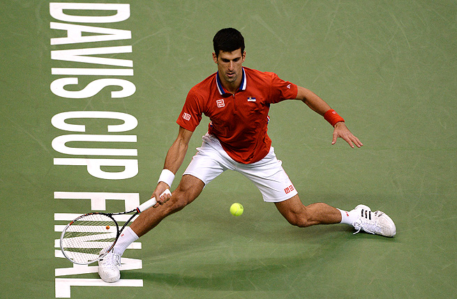 Novak Djokovic beat Radek Stepanek in the Davis Cup final, securing his 23rd consecutive win.