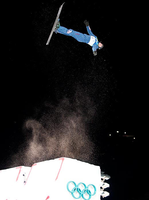 Freestyle skiers catapult twice up to 20 feet in the air with jumps that can include as many as three flips and five twists. Their scores combine takeoff, jump form and landing and their margin for error is miniscule.