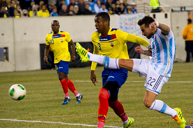 Both teams have already qualified for the World Cup in 2014, and Argentina was playing without the injured Lionel Messi.