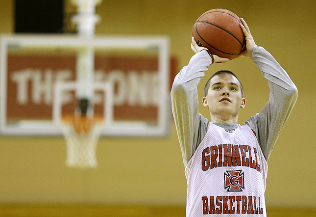 Grinnell's Jack Taylor became an celebrity last Nov. 20 when he scored 138 points.