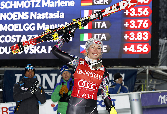Mikaela Shiffrin continued her surge to Sochi with her slalom win on Saturday in Finland.