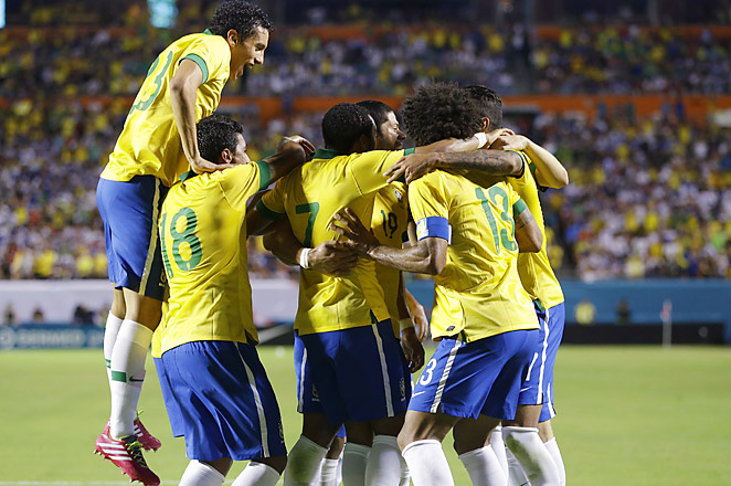 Brazil's five goal game at Sun Life Stadium included three in a seven-minute span from Maicon, William and Hulk.