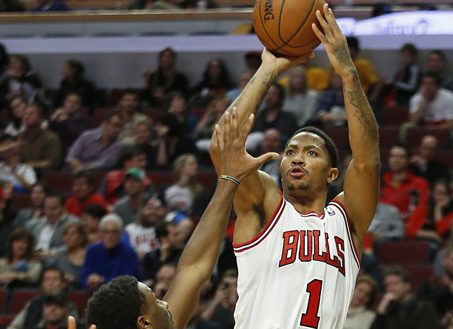 Derrick Rose hit six three-pointers in helping hand the Pacers their first loss of the season.
