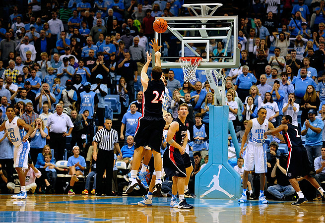 J.J. Mann was only 1-for-16 from beyond the arch entering the game against UNC.