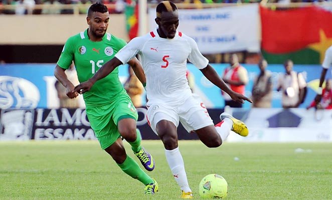 Burkina Faso won the first leg of their qualifying playoff against Algeria 3-2 in Bukina Faso.