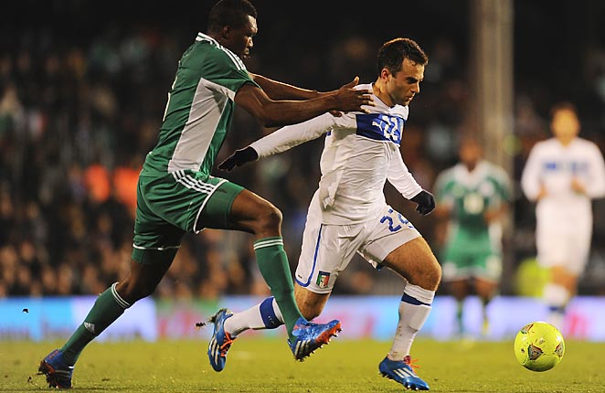 Giuseppe Rossi scored for Italy for the first time since 2011 against Nigeria in a London friendly match.