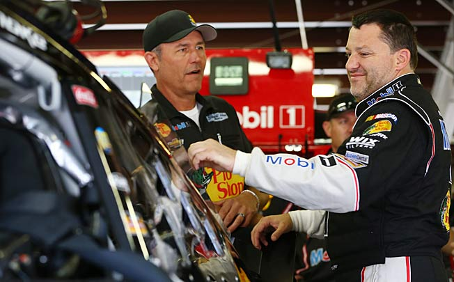 Steve Addington (left) is out as Tony Stewart's crew chief in a major shakeup by Stewart-Haas Racing.