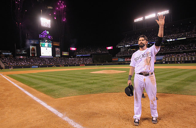 Todd Helton spent his entire 17-year career with the Rockies before retiring after last season.