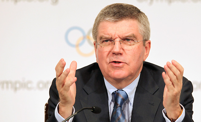 Making good on Thomas Bach's suggestion would require an exception to the Olympic Charter.