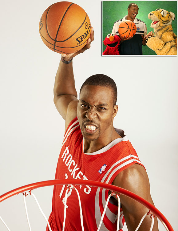 """Howard will talk with Elmo about the word """"strategy"""" on <italics>Sesame Street</italics>, which will air Thursday morning, Nov. 21. The Rockets' center-forward is just the latest athlete to appear on the long-running children's television series, which has had athletes on the show since its first season (1969-70). From Dwight Howard to Jackie Robinson, we present athletes who have appeared on <italics>Sesame Street</italics>."""