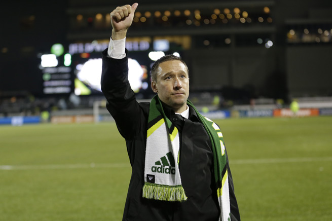 Portland Timbers manager Caleb Porter was named MLS Coach of the Year on Monday.