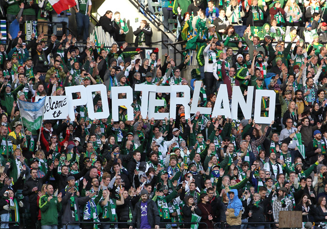 It has not taken long for Portland Timbers fans to rally behind manager Caleb Porter, who has been lauded by the Timbers Army in his first season.