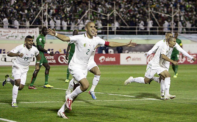 Algeria earned Africa's last berth in next year's World Cup, beating Burkina Faso 1-0 in their playoff's second leg for a 3-3 aggregate tie and a victory on away goals.