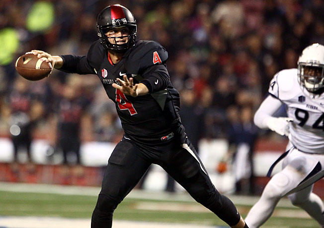 Fresno State's Derek Carr has passed for 3,421 yards and 32 touchdowns, with four interceptions.