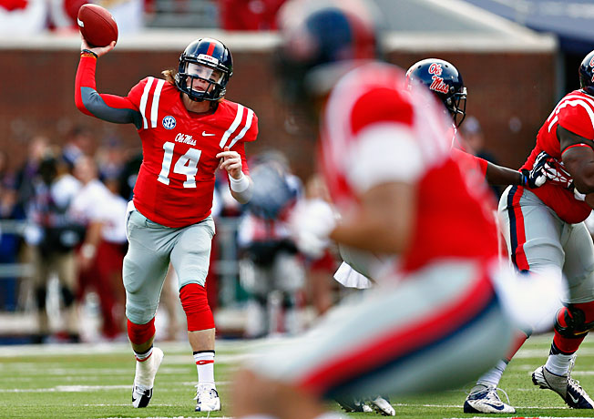 Can quarterback Bo Wallace (14) and Ole Miss take down another ranked SEC opponent this weekend?