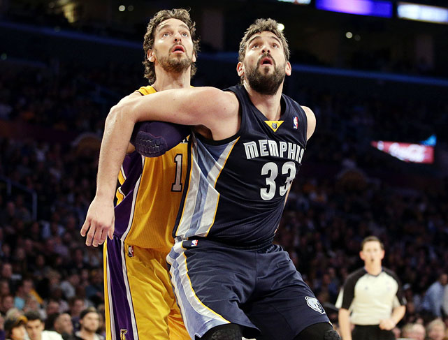 From NBA Rookie of the Year, to four-time All-Star, to MVP of the 2006 FIBA World Championship, to two NBA Championships with the Lakers, Pau's growing resume continues to impress. Although Marc has some catching up to do, the Grizzlies center was named an All-Star in 2012 and Defensive Player of the Year in 2012-13.