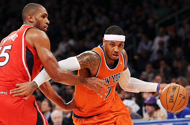 Carmelo Anthony and the Knicks are off to a 3-8 start, including 1-6 at Madison Square Garden.